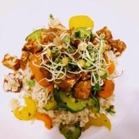 Tofu im Erdnussmantel (vegan)