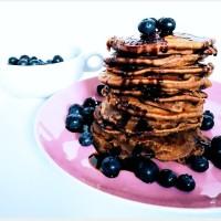 Vegane Pancakes mit Heidelbeeren (Protein)